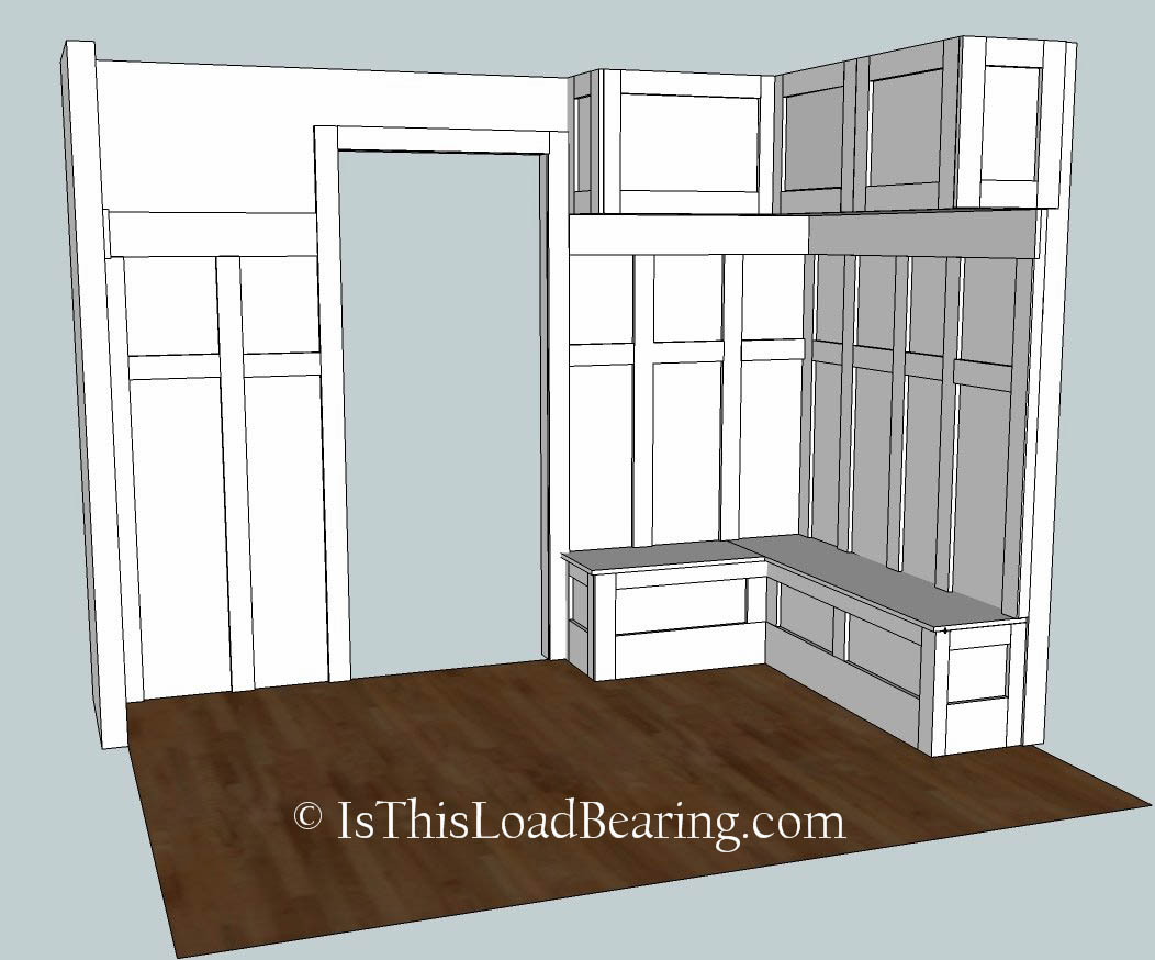 Gary striegler building a mudroom joy studio design for Mudroom locker design plans