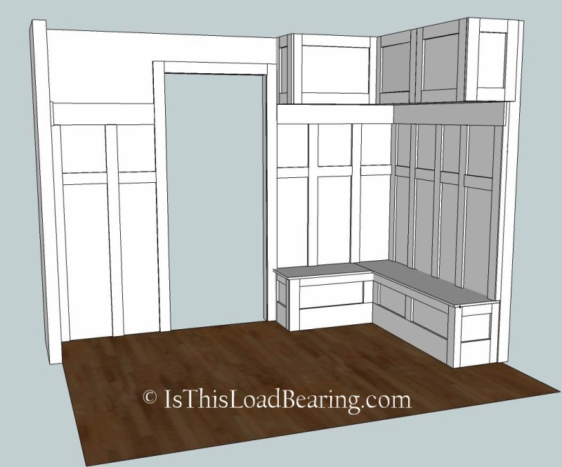 mudroom storage building plans